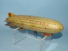 R-100 G-FAAV ZEPPELIN TIN WINDUP TOY KOHNO PRE-WAR JAPAN
