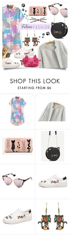 """Feline Fashion"" by mahafromkailash on Polyvore featuring cats and catstyle"