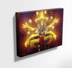 Overwatch Canvas. Zenyatta Mounted Canvas Print  #painting #art #bowie #ziggystardust #overwatch #destiny #gameroom #poster #desting #dustedpixels