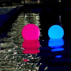 Bola led, esfera, luminosa, 30cm, RGB, cargable, flotante!!  www.lavidaenled.com