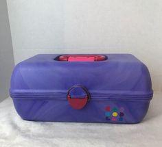 Vintage Caboodles Make Up Case Purple Hot Pink 2 Tier w Mirror 2620    eBay