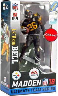 5cf4faeef2c McFarlane EA Sports Madden NFL18 LE'VEON BELL STEELERS COLOR RUSH CHASE  #McFarlaneToys NFL