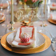 Paper Protea DIY Tutorial
