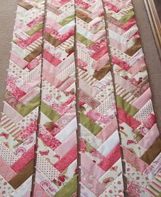 Several weeks ago a few sewing friends and I had a sewing day together, each of us starting or working on a french braid quilt using the 'Pe...