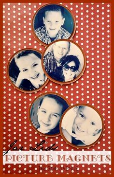 Jar Lid Picture Magnets, I made some of these for christmas gifts. Diy Christmas Gifts, Holiday Crafts, Christmas Ornaments, Craft Gifts, Diy Gifts, Picture Magnets, Craft Projects, Kids Crafts, Foto Fun