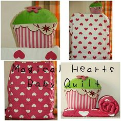 The Make, Love Is All, Baby Products, Baby Quilts, Cupcake, Hearts, Sleep, Cushions, Kids Rugs