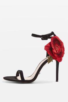 ROSEBUD Sandaletten mit Rosendetail