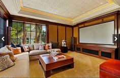 Black-out blinds can allow a home theater to double as a sunny living room.