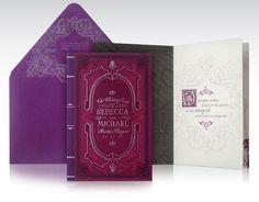 Martha's Vineyard meets Fairytale book wedding invitation