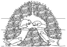 Coloring page beaver nest - coloring picture beaver nest. Free coloring sheets to print and download. Images for schools and education - teaching materials. Img 9448. Free Coloring Sheets, Colouring Pages, Printable Coloring Pages, Kindergarten Crafts, Preschool Activities, Kindergarten Worksheets, Doodle Fonts, Doodle Art, Beaver Animal