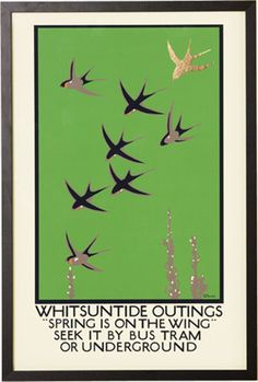 Whitsuntide Outings, Retro Framed Print from Made.com. Multi-Coloured. Part of a collection of vintage prints, this one by Charles Paine publicises ..