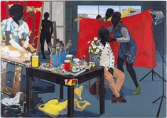 His staggering paintings use the language of Western art history to paint the black experience.