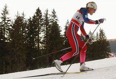 Therese #Johaug, norvegese, in una gara di sci di fondo a #Toblach, in #Südtirol