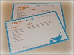 printed recipe cards