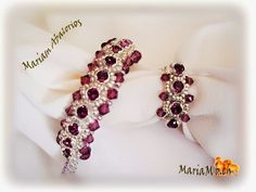 Mariam abalorios : Pulsera y anillo Strass Swarovski