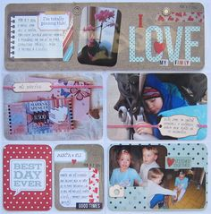 6. týden 2014 - 3. strana Love My Family, My Love, Life Page, Project Life, 3, Scrapbook, Projects, Candle, Log Projects