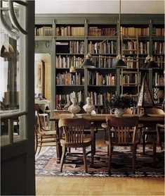 Olive Green Library ... Can be the perfect setting for Dining...
