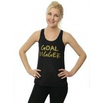 Her Suppz Goal Digger Tank. Available in White or Black, both with gold lettering. Only $19.99!