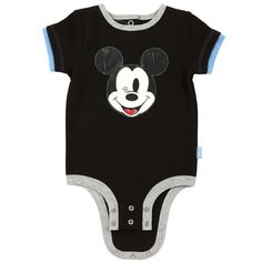 Disney Cuddly Bodysuit™ with Grow-An-Inch-Snaps™ MICKEY MOUSE