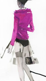 Vibrant couture illustrations by David Downton