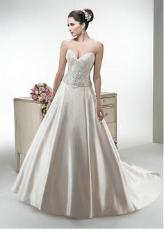 Modest Sweetheart Sleeve Short Sleeve Cap Inverted Basque Full Length Ball Gown Chapel Trend Luxury Style Wedding Dresses