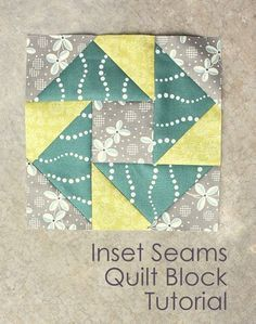 Inset Seams Tutorial - Diary of a Quilter - a quilt blog