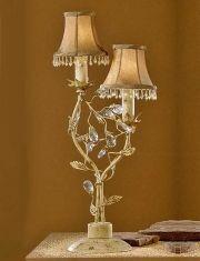 Lampade da tavolo Fiorentine 2 luci : Verdi Oro