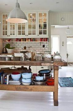 Elegante Kochinsel für ein schönes Küchen Design im Weiß - Die moderne Kochinsel in der Küche- 20 verblüffende Ideen für Küchen Design
