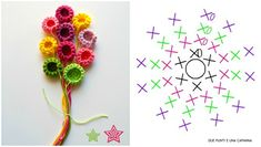 Watch The Video Splendid Crochet a Puff Flower Ideas. Wonderful Crochet a Puff Flower Ideas. Crochet Bouquet, Crochet Puff Flower, Crochet Brooch, Crochet Flower Tutorial, Crochet Leaves, Crochet Buttons, Knitted Flowers, Crochet Flower Patterns, Freeform Crochet