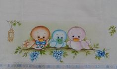 Baby Painting, Tole Painting, Fabric Painting, Pinterest Pinturas, Embroidery Patterns, Hand Embroidery, Coloring Books, Coloring Pages, Cute Paintings