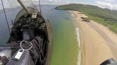 Arial view of Portsalon Beach Co Donegal.
