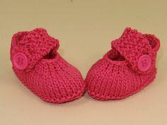 Digital file pdf download knitting pattern only- Baby Simple Big Strap Sandals pdf download knitting pattern