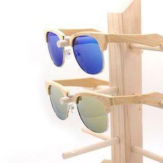 3c5e1373479fba Retro Semi-Rimless Classic Wood Sunglasses  2 Variants . Gespiegelde ZonnebrilZonnebrillen  VrouwenPolaroid KaderVogelMadeiraStijl