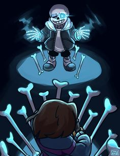 in which frisk gets DUNKED ON by Karin-Sawada on DeviantArt