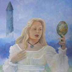 illustration of fantasy, mythology, a celtic tower