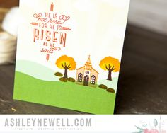 Project by Ashley Newell for Papertrey Ink - November 2015 - Petite Places: Walk In the Park + Petite Places: Church - #AshleyNewell #PaperSource #PapertreyInk