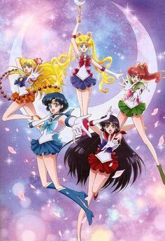 Bishoujo Senshi Sailor Moon (Sailor Mercury, Sailor Venus, Sailor Jupiter, Sailor Mars, Sailor Moon)