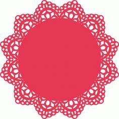 Silhouette Online Store: intricate doily lace decoration