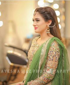 Excellent Wedding Ever Pakistani Party Wear, Pakistani Wedding Outfits, Bridal Outfits, Pakistani Dresses, Pakistani Clothing, Indian Dresses, Bridal Mehndi Dresses, Mehndi Outfit, Eastern Dresses