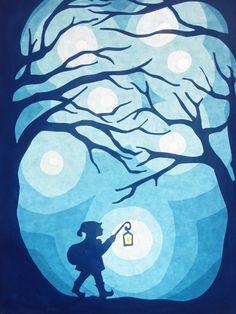 Window decorations - Lantern parade - a unique product by – Laternenumzug – ein Designerstück von bei DaWanda Window decorations – Lantern parade – a unique product by on DaWanda - Autumn Crafts, Christmas Crafts, Christmas Elf, Paper Art, Paper Crafts, Christmas Window Decorations, Rena, Waldorf Crafts, Shadow Puppets