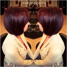Dark cherry cola hair for my client today! Find me on Instagram