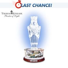 Thomas Kinkade Victorian Christmas Crystal Nutcracker Figurine -  	     	              	View Sale Price   Traditional nutcrackers and shimmering crystal are among the most treasured collectible art forms in the world. Now these cherished traditions come together for a First-Ever Thomas Kinkade crystal nutcracker figurine - inspiring with its Victorian...