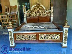Tempat tidur, tempat tidur ukir, tempat tidur kayu, dipan, dipan ukir, dipan jati, dipan mewah, dipan model terbaru