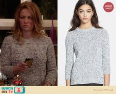 Julia's grey marled sweater on Parenthood. Outfit Details: http://wornontv.net/27763 #Parenthood #fashion
