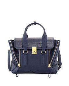 Pashli Medium Zip Satchel Bag, Ink by 3.1 Phillip Lim at Neiman Marcus.