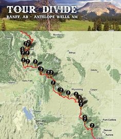 The Tour Divide Mountain Bike Race: Canada to NM.   June 2015 I will be there. Training has started. Lots of research, physical and mental prep to do.