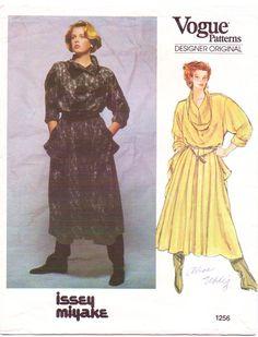 80s Vogue Designer Original Pattern 1256 Issey by CloesCloset, $53.00