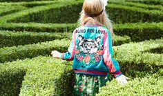 There's a huge focus on back details at Gucci Kids summer 2017