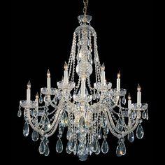 12 Light Crystal Chandelier III Crystal Grade: Hand Cut, Finish: Polished Brass - http://chandelierspot.com/12-light-crystal-chandelier-iii-crystal-grade-hand-cut-finish-polished-brass-589810267/