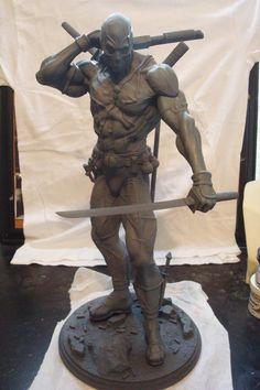 Deadpool sculpture by Marc Opdycke
